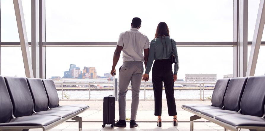 couple in the airport